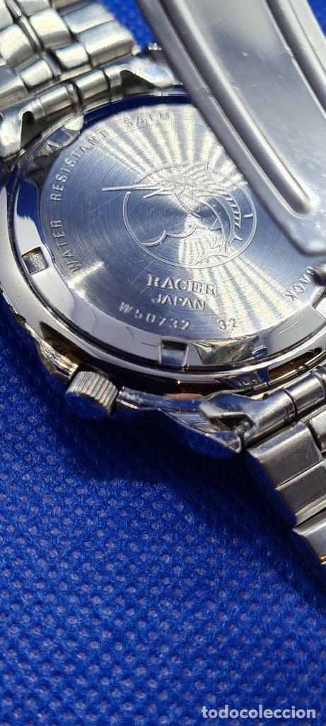 Relojes - Racer: Reloj caballero RACER cuarzo crono, calendario, varias alarmas, fecha, caja acero, caja acero origin - Foto 15 - 248493860