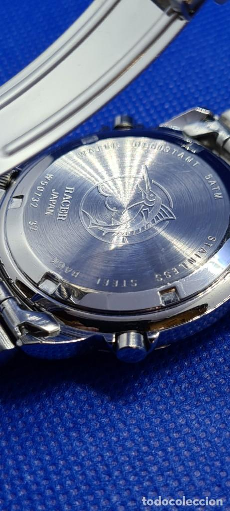 Relojes - Racer: Reloj caballero RACER cuarzo crono, calendario, varias alarmas, fecha, caja acero, caja acero origin - Foto 17 - 248493860