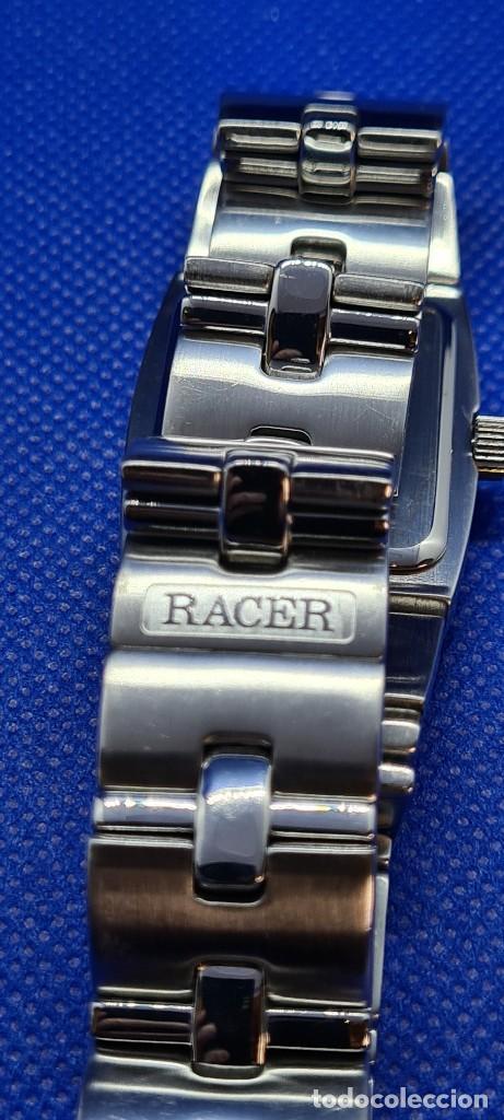Relojes - Racer: Reloj caballero RACER de cuarzo en acero,esfera blanca calendario tres, pulsera acero original Racer - Foto 15 - 248721415