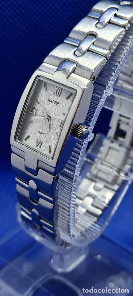 Relojes - Racer: Reloj señora RACER de cuarzo en acero, caja de acero, esfera blanca, pulsera acero original Racer. - Foto 4 - 248999965