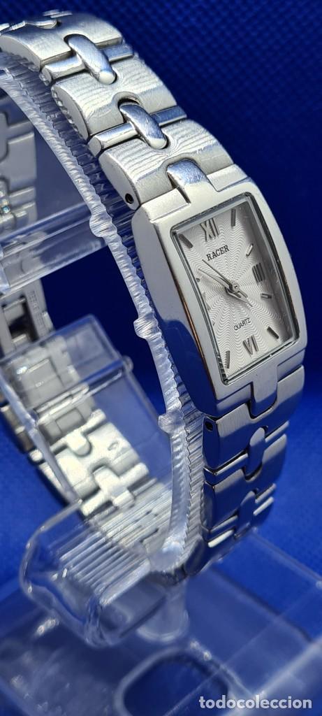 Relojes - Racer: Reloj señora RACER de cuarzo en acero, caja de acero, esfera blanca, pulsera acero original Racer. - Foto 5 - 248999965