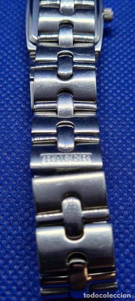Relojes - Racer: Reloj señora RACER de cuarzo en acero, caja de acero, esfera blanca, pulsera acero original Racer. - Foto 8 - 248999965