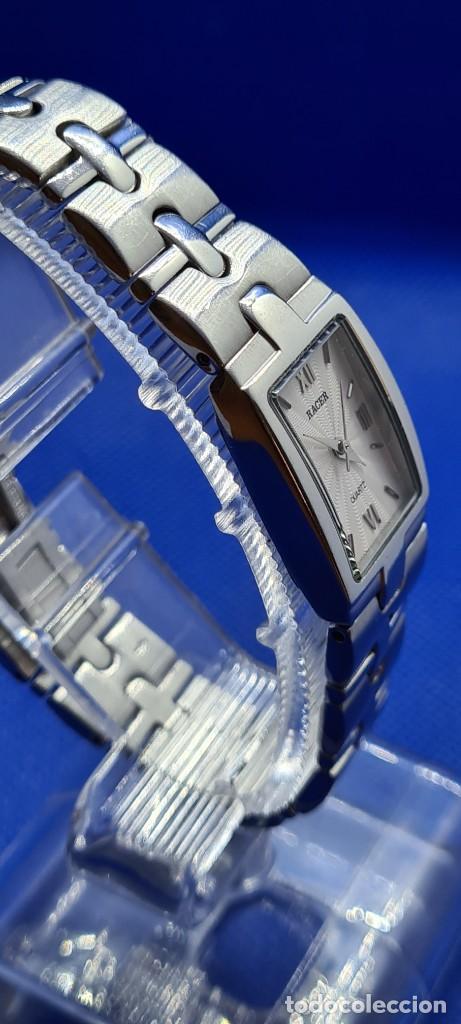 Relojes - Racer: Reloj señora RACER de cuarzo en acero, caja de acero, esfera blanca, pulsera acero original Racer. - Foto 9 - 248999965