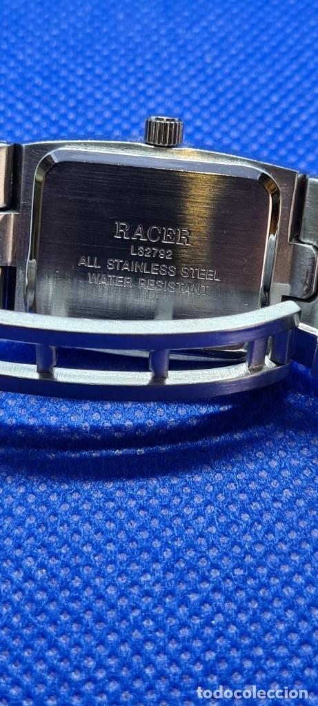 Relojes - Racer: Reloj señora RACER de cuarzo en acero, caja de acero, esfera blanca, pulsera acero original Racer. - Foto 10 - 248999965