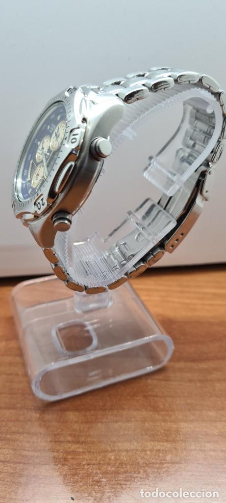 Relojes - Racer: Reloj caballero RACER World Time cronógrafo alarma análogico y digital en acero, correa de acero. - Foto 7 - 253882080