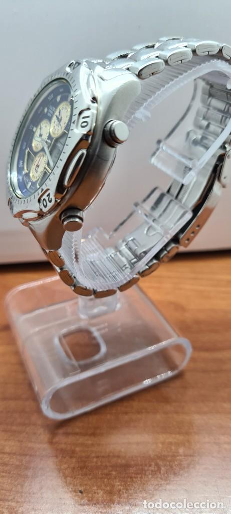 Relojes - Racer: Reloj caballero RACER World Time cronógrafo alarma análogico y digital en acero, correa de acero. - Foto 11 - 253882080