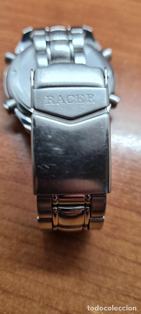 Relojes - Racer: Reloj caballero RACER World Time cronógrafo alarma análogico y digital en acero, correa de acero. - Foto 14 - 253882080
