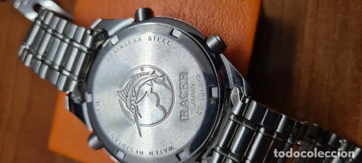 Relojes - Racer: Reloj caballero RACER World Time cronógrafo alarma análogico y digital en acero, correa de acero. - Foto 16 - 253882080
