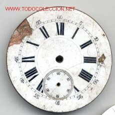 Recambios de relojes: ESFERA ESMALTADA RELOJ BOLSILLO 47MM. Lote 11724584