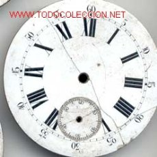 Recambios de relojes: ESFERA ESMALTADA RELOJ BOLSILLO 43MM. Lote 5519022