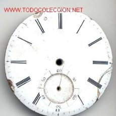 Recambios de relojes: ESFERA ESMALTADA RELOJ BOLSILLO 43MM. Lote 6666646