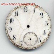 Recambios de relojes: ESFERA ESMALTADA RELOJ BOLSILLO 42MM. Lote 6666649