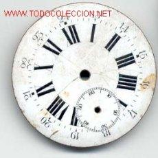 Recambios de relojes: ESFERA ESMALTADA RELOJ BOLSILLO 42MM. Lote 6622576