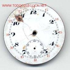 Recambios de relojes: ESFERA ESMALTADA RELOJ BOLSILLO 43MM. Lote 6622580