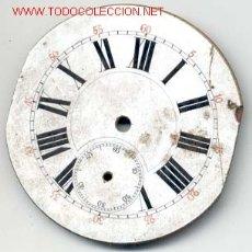 Recambios de relojes: ESFERA ESMALTADA RELOJ BOLSILLO 49MM. Lote 6622566