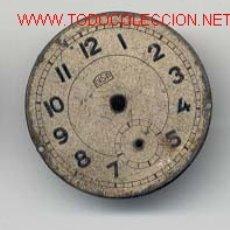 Recambios de relojes: ESFERA RELOJ BOLSILLO 27MM. Lote 12492579