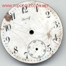 Recambios de relojes: ESFERA ESMALTADA RELOJ BOLSILLO 42MM. Lote 13392533