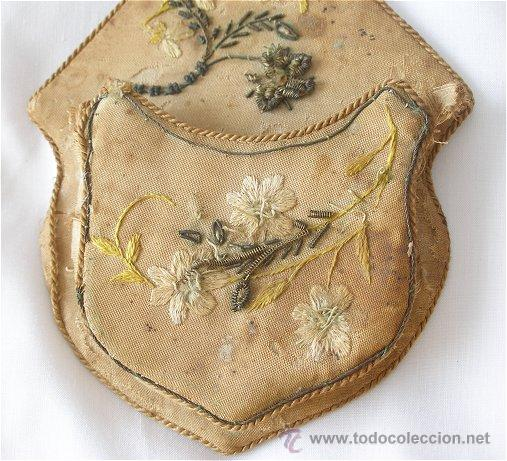 Recambios de relojes: RELOJERA ANTIGUA BORDADA SIGLO XIX - Foto 4 - 25043815