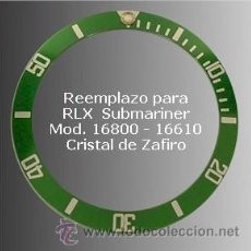 Recambios de relojes: RLXI11 INSER REEMPLAZO PARA ROLEX MOD. SUBMARINER ZAFIRO. Lote 159035176