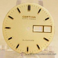 Recambios de relojes: S166 ESFERA CERTINA CON DOBLE CALENDARIO. Lote 26856656