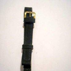 Recambios de relojes: CORREA DE PIEL NEGRA PARA RELOJ DE PULSERA. Lote 25471019