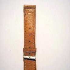 Recambios de relojes: CORREA DE PIEL MARRÓN PARA RELOJ DE PULSERA. Lote 25171823
