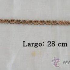 Recambios de relojes: CADENA PARA RELOJ DE BOLSILLO ANTIGUA DORADA. Lote 27435898