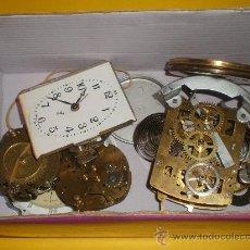 Recambios de relojes: LOTE DE CUATRO MAQUINARIAS Y TRES ESFERAS DE RELOJES . Lote 26544676