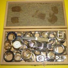 Recambios de relojes: LOTE DE 45 CERCOS DE CAJAS DE RELOJES DE PULSERA. Lote 27556025