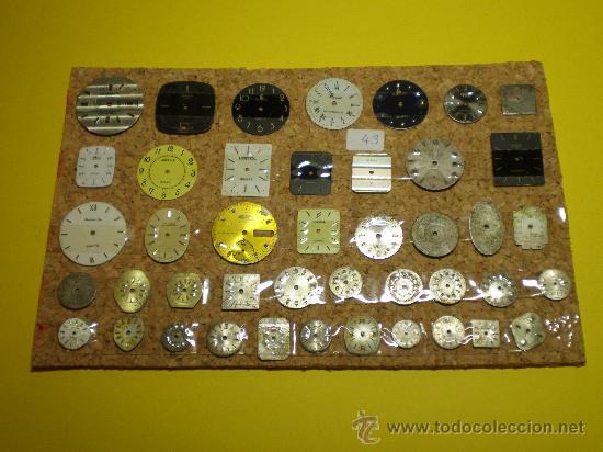 LOTE DE 43 ESFERAS MUY ANTIGUAS PARA RELOJES DE PULSERA (Relojes - Recambios)