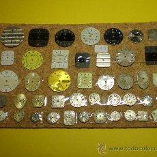 Recambios de relojes: LOTE DE 43 ESFERAS MUY ANTIGUAS PARA RELOJES DE PULSERA. Lote 26904957