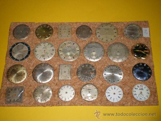 LOTE DE 24 ESFERAS PARA RELOJES DE PULSERA MUY ANTIGUOS (Relojes - Recambios)
