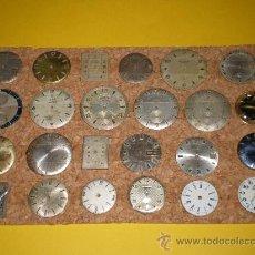 Recambios de relojes: LOTE DE 24 ESFERAS PARA RELOJES DE PULSERA MUY ANTIGUOS. Lote 26904953