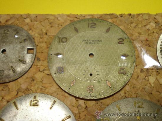 Recambios de relojes: LOTE DE 24 ESFERAS PARA RELOJES DE PULSERA MUY ANTIGUOS - Foto 2 - 26904953