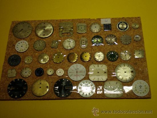 LOTE DE 41 ESFERAS PARA RELOJES DE PULSERA (Relojes - Recambios)