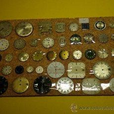 Recambios de relojes: LOTE DE 41 ESFERAS PARA RELOJES DE PULSERA. Lote 26797850