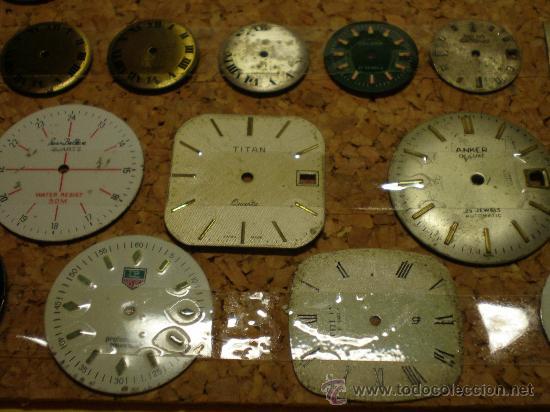 Recambios de relojes: LOTE DE 41 ESFERAS PARA RELOJES DE PULSERA - Foto 3 - 26797850