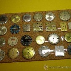 Recambios de relojes: LOTE DE 25 ESFERAS PARA RELOJES DE PULSERA. Lote 26797858