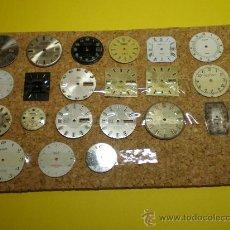 Recambios de relojes: LOTE DE 21 ESFERAS PARA RELOJES DE PULSERA. Lote 26797848