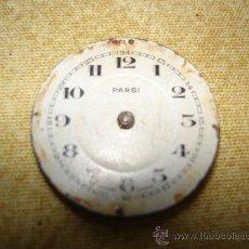 Recambios de relojes: ESFERA Y PARTE DE LA MAQUINARIA DE ANTIGUO RELOJ BOLSILLO - PARSI - DIAMETRO: 31 MM. APROX.. Lote 28508585