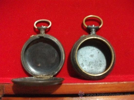 Recambios de relojes: 2 Cajas de realmente antiguos relojes de Bolsillo , Grandes (1 Roskopf) - Foto 3 - 28621520