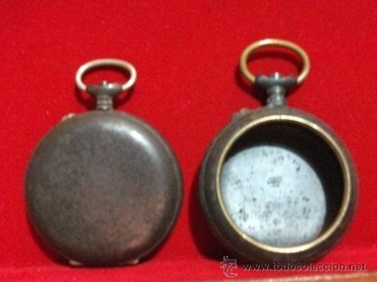 Recambios de relojes: 2 Cajas de realmente antiguos relojes de Bolsillo , Grandes (1 Roskopf) - Foto 2 - 28621520