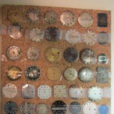 Recambios de relojes: LOTE DE 43 ESFERAS DE MARCAS ANTIGUAS PARA RELOJES DE PULSERA. Lote 31700581
