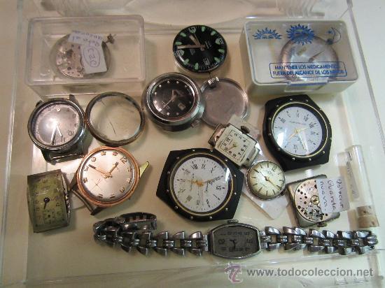 Recambios de relojes: LOTE DE PIEZAS DE RELOJERÍA - Foto 3 - 31714099