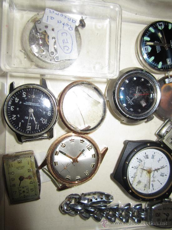 Recambios de relojes: LOTE DE PIEZAS DE RELOJERÍA - Foto 4 - 31714099
