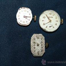 Recambios de relojes: RE157 LOTE DE 3 MAQUINARIAS DE RELOJ DE MUJER HERODIA, CAROL Y UNA SIN MARCA. Lote 32138975