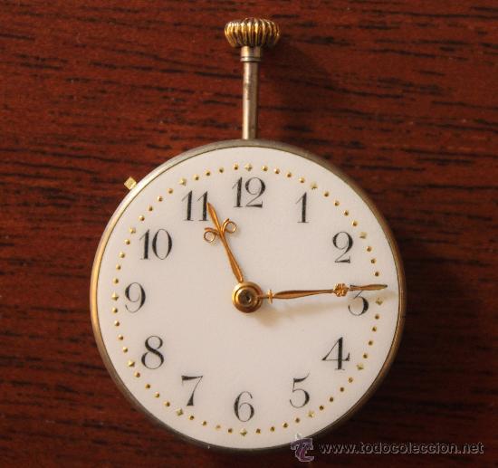 RELOJ DE BOLSILLO ESFERA DE PORCELANA SIN SU CAJA 2,5 CM DE DIAMETRO (Relojes - Recambios)