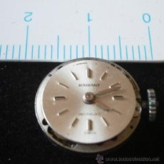 Recambios de relojes: PARTE DE RELOJ RADIANT, INCABLOC, SWISS. Lote 35381585