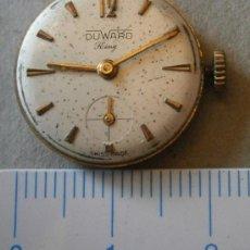 Recambios de relojes: PARTE DE RELOJ DUWARD KING, SWISS MADE. Lote 36117611