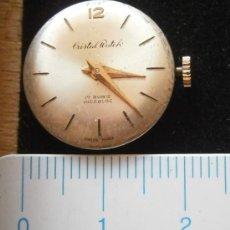 Recambios de relojes: PARTE DE RELOJ CRISTAL WATCH, SWISS MADE. Lote 36128587